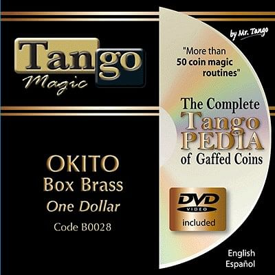 Okito Coin Box  One Dollar - Brass - magic