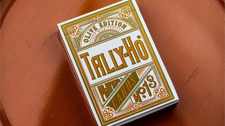 Tally Ho Olive Playing Cards - magic