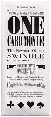One Card Monte trick - magic