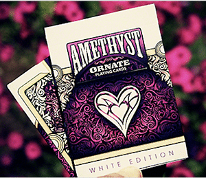 Ornate White Edition Playing Cards (Amythyst) - magic