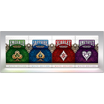 Ornate White Edition Playing Cards (Emerald) - magic