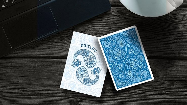 Paisley Playing Cards (French Blue)