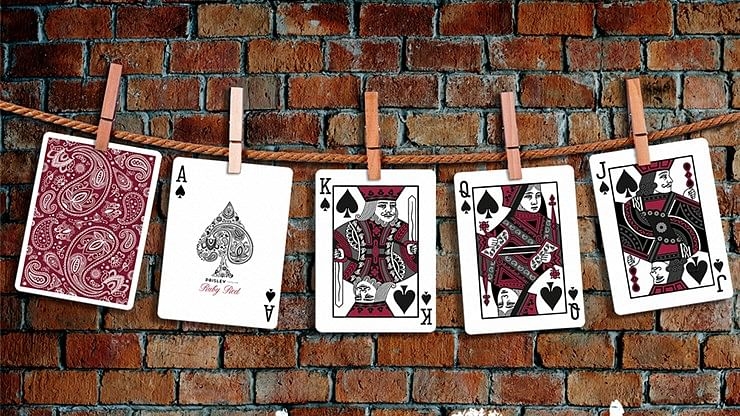 Paisley Playing Cards Ruby Red