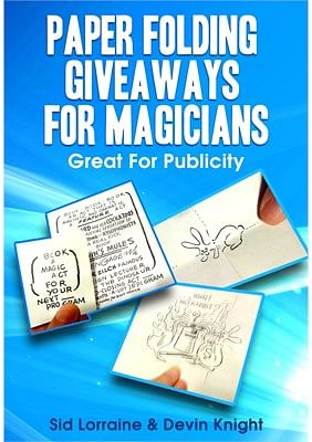 Paper Folding Giveaways For Magicians - magic