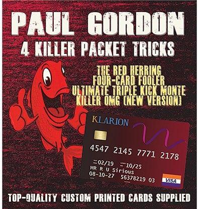 Paul Gordon's 4 Killer Packet Tricks Volume 1 - magic