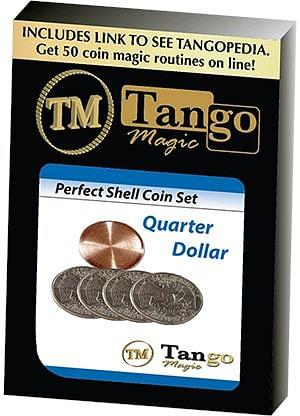 Perfect Shell Coin Set Quarter Dollar - magic