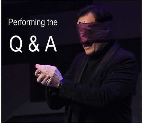 Performing the Q&A - magic