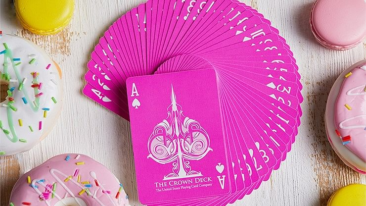 Pink Crown Playing Cards