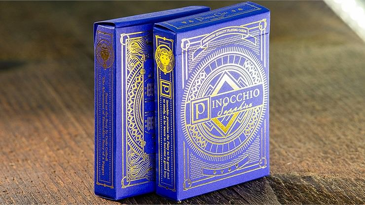 Pinocchio Sapphire Playing Cards