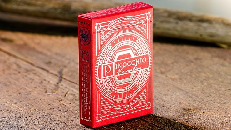 Pinocchio Vermilion Playing Cards - magic