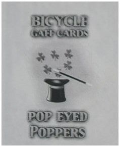 Pop Eyed Popper Deck (Bicycle)  - magic