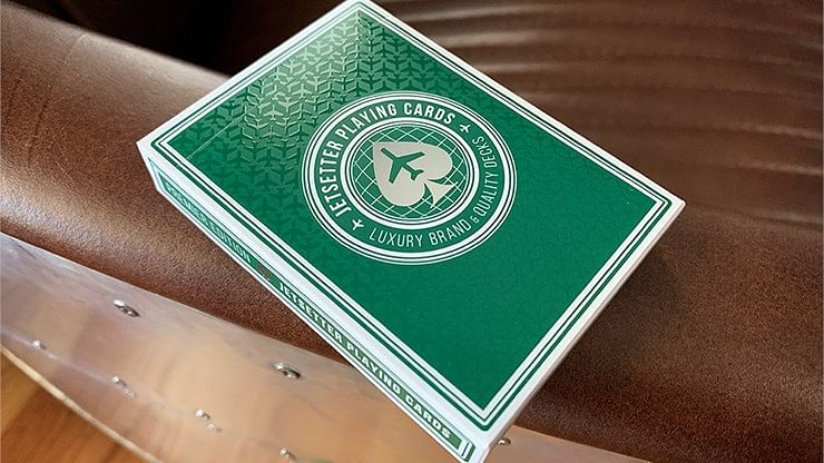 Jetsetter Premier Edition Jetsetter Green Playing Cards  - magic