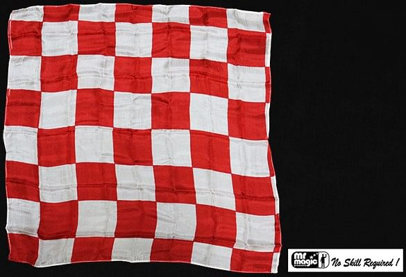 Production Hanky Chess Board Red and White - magic