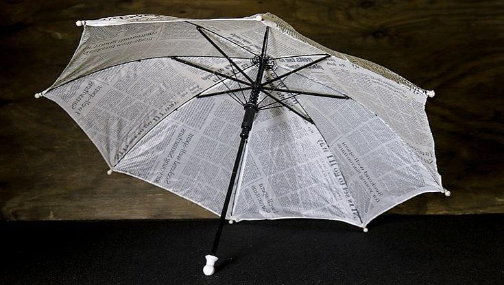 Production Umbrella (Newspaper Design)