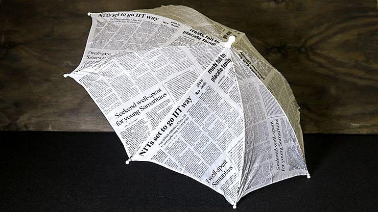 Production Umbrella (Newspaper Design) - magic