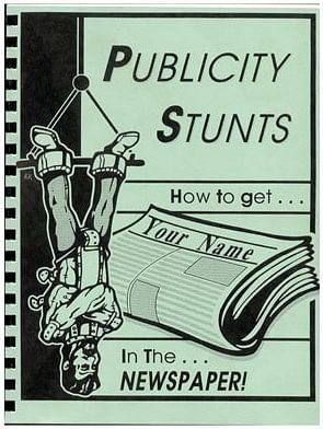 Publicity Stunts book - magic