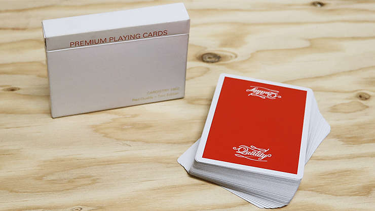 Quality Cardistry 1902 2nd Edition Red Playing Cards - magic