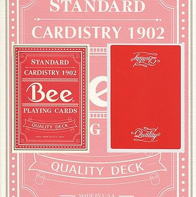 Bicycle Quality Bee Playing Cards (Red)  - magic
