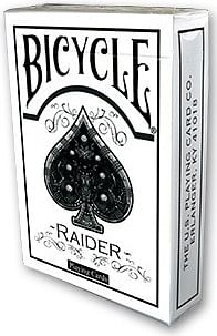 Raider Bicycle Deck White - magic
