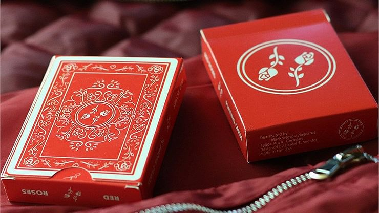 Red Roses Playing Cards - magic
