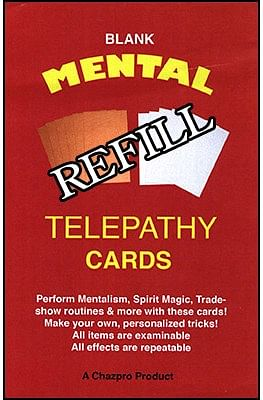 Refill  Mental Telepathy Cards - magic