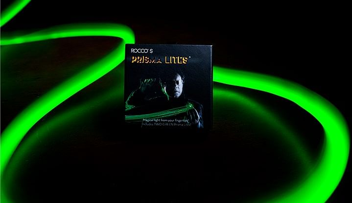 Rocco's SUPER BRIGHT Prisma Lites Pair (Green) - magic