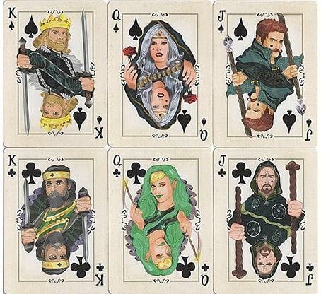 Runic Royalty Bicycle Playing Cards