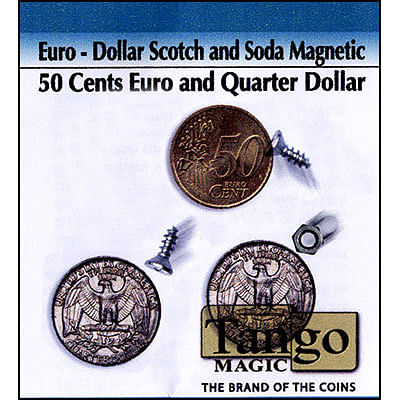 Scotch and Soda - Quarter Dollar/50 Euro Cents (magnetic) - magic