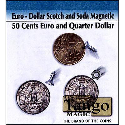 Scotch and Soda - Quarter Dollar/50 Euro Cents (magnetic) - magic