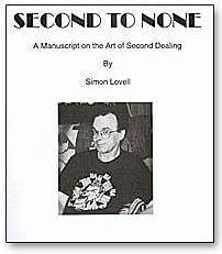 Second to None book Simon Lovell - magic