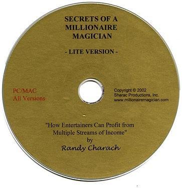 Secrets of a Millionare Magician CD - magic