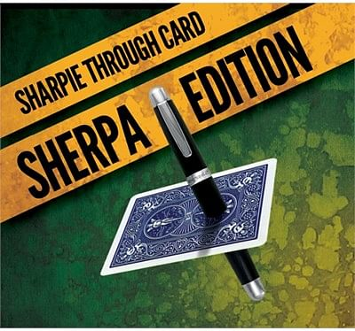 Sharpie Through Card SHERPA Version  Blue - magic