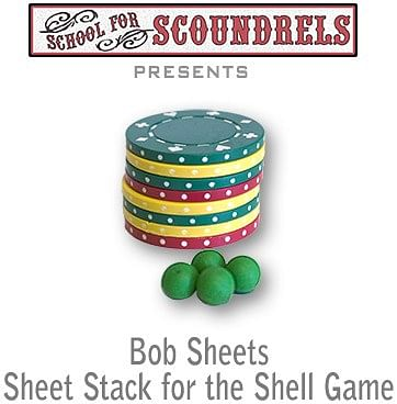 Sheets Poker Chip Stack - magic
