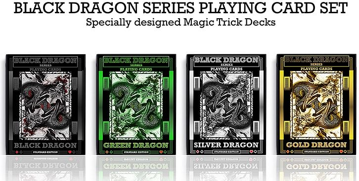 Silver Dragon Playing Cards