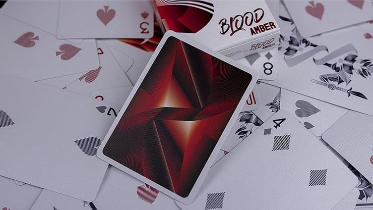 Blood Amber Playing Cards