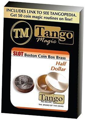 Slot Boston Box Brass half dollar Tango-Trick - magic