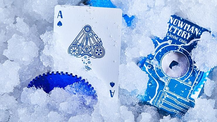 Snowman Factory Playing Cards