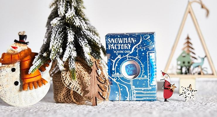 Snowman Factory Playing Cards - magic