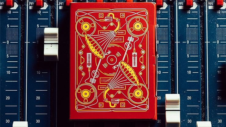 Red Soundboards Playing Cards