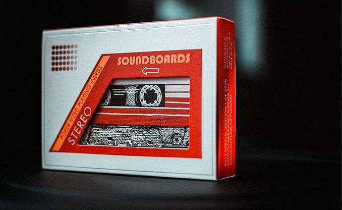Red Soundboards Playing Cards - magic