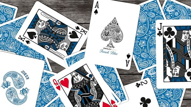 Special Edition Diamon Playing Cards Paisley Box Set