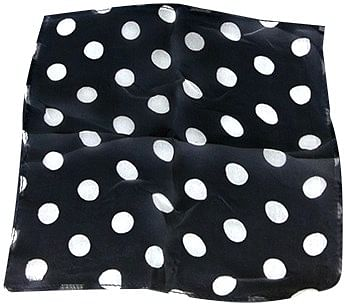 "Spotted Silk 09"" (Black w/ white spots) - magic"