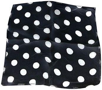 "Spotted Silk 09"" (Black w/ white spots) - magic"