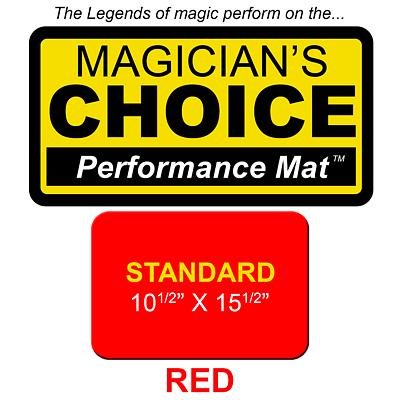 Standard Close-Up Mat (RED - 10.5x15.5) - magic