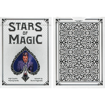 Stars of Magic Playing Cards (White) - magic