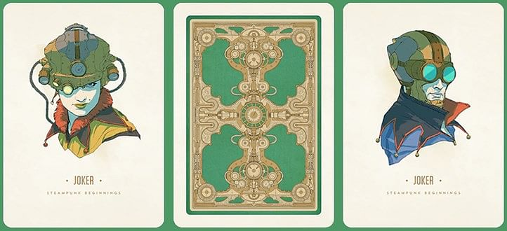 Steampunk Beginnings Playing Cards