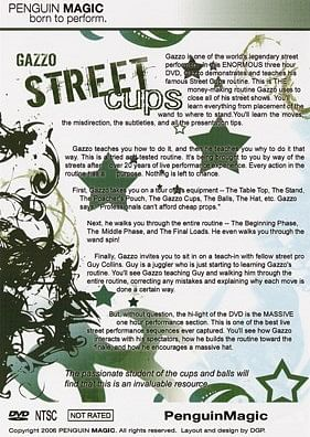 Street Cups (DVD and Book Set)