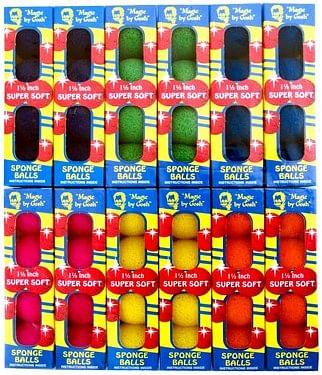 """Super Soft Sponge Balls 1.5"""" - Mixed Colors (12 Pack) - magic"""