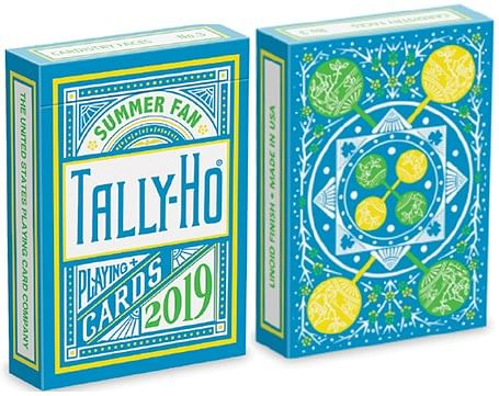 Tally Ho Fan Back Summer Playing Cards - magic