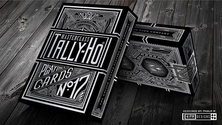 Tally-Ho Chrome Black Masterclass Playing Cards
